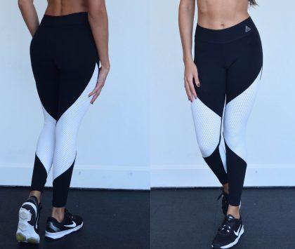 Diva Fuso Legging Black Tela White (2)