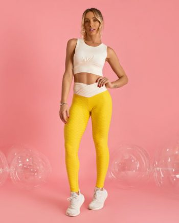 Dream Anti Cellulite Yellow & Vanilla Leggings